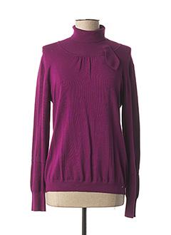 Pull col roulé violet MARELLA pour femme