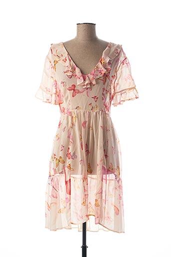 Robe mi-longue rose TWINSET pour femme