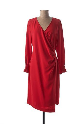 Robe mi-longue rouge I BLUES pour femme