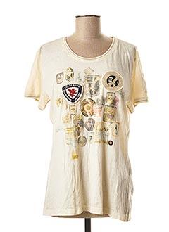 T-shirt manches courtes beige AERONAUTICA pour femme