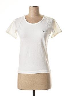 T-shirt manches courtes blanc TRUSSARDI JEANS pour femme