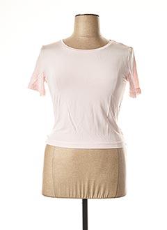 T-shirt manches courtes rose MARELLA pour femme