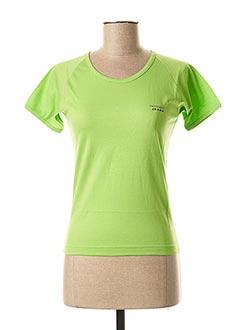 T-shirt manches courtes vert TRUSSARDI JEANS pour femme
