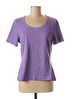 T-shirt manches courtes violet WEEKEND MAXMARA pour femme