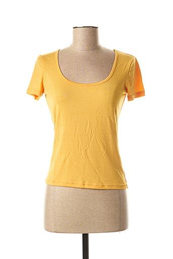 T-shirt manches courtes jaune MARELLA pour femme