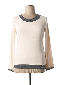 T-shirt manches longues beige THALASSA pour femme