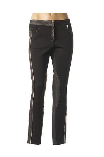 Pantalon 7/8 noir DANIELA DALLAVALLE pour femme