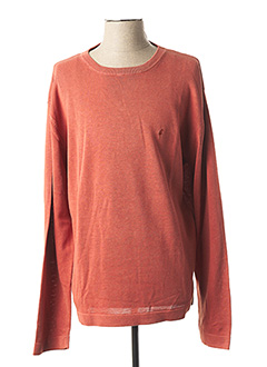 Pull col rond orange GENTLEMAN FARMER pour homme