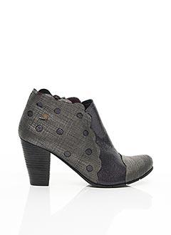 Bottines/Boots gris GOLD BUTTON pour femme