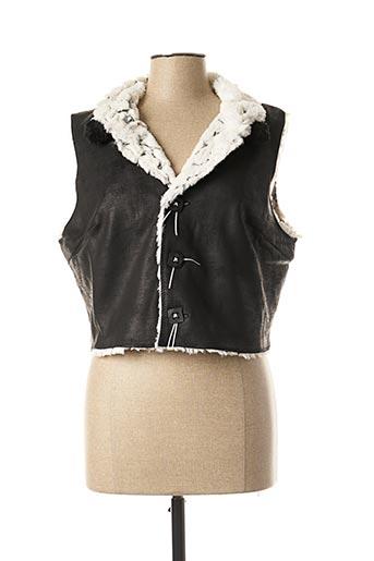 Veste simili cuir noir LO! LES FILLES pour femme