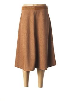 Jupe mi-longue marron LO! LES FILLES pour femme