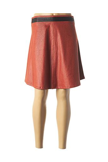 Jupe courte orange LO! LES FILLES pour femme