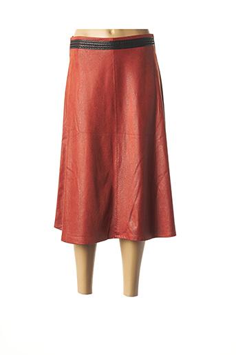 Jupe mi-longue orange LO! LES FILLES pour femme