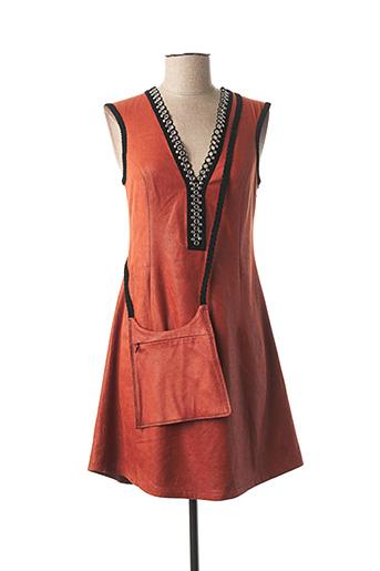 Robe mi-longue orange LO! LES FILLES pour femme