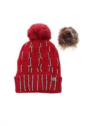 Bonnet rouge VL COLLECTION pour femme