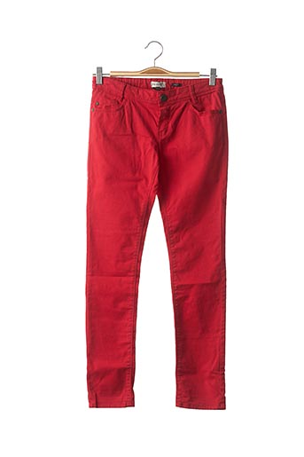 Pantalon casual rouge JEAN BOURGET pour enfant