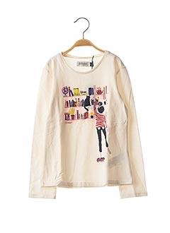 T-shirt manches longues beige JEAN BOURGET pour fille