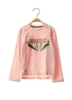 T-shirt manches longues rose CHIPIE pour fille