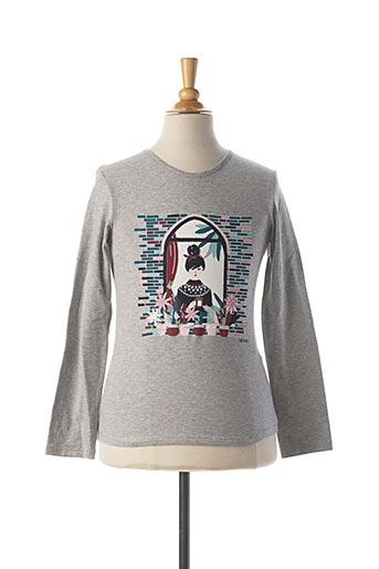 T-shirt manches longues gris JEAN BOURGET pour fille