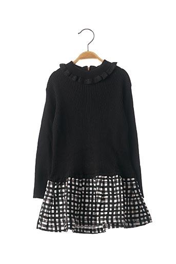 Robe mi-longue noir JEAN BOURGET pour fille