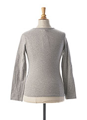 T-shirt manches longues gris JEAN BOURGET pour fille seconde vue