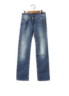 Jeans coupe droite bleu LE TEMPS DES CERISES pour fille