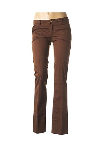 Pantalon chic marron SALSA pour femme