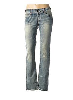 Jeans coupe droite bleu CHEFDEVILLE pour femme