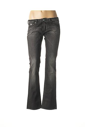 Jeans coupe droite gris LE TEMPS DES CERISES pour femme
