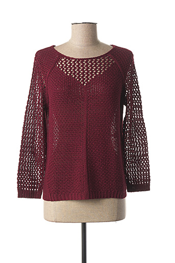 Pull col rond rouge BETTY BARCLAY pour femme