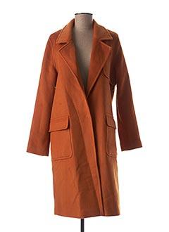 Manteau long orange LOLA ESPELETA pour femme