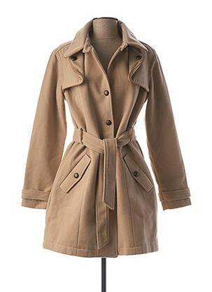 Manteau long beige LOLA ESPELETA pour femme