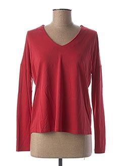T-shirt manches longues rouge STREET ONE pour femme