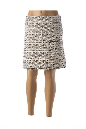 Jupe courte beige DOUBLE JEU pour femme