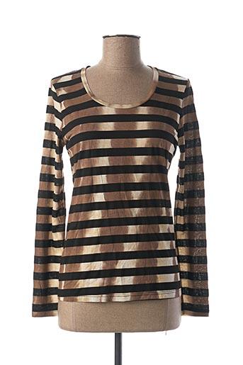 T-shirt manches longues marron VOODOO pour femme