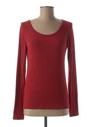 T-shirt manches longues rouge PAKO LITTO pour femme