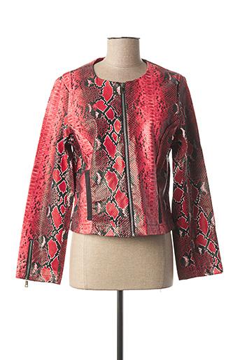 Veste casual rouge DOUBLE JEU pour femme