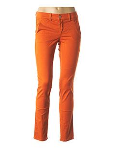 Pantalon 7/8 orange HAPPY pour femme