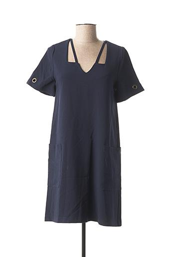 Robe courte bleu DOUBLE JEU pour femme