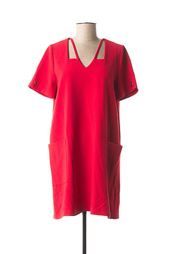 Robe courte rouge DOUBLE JEU pour femme