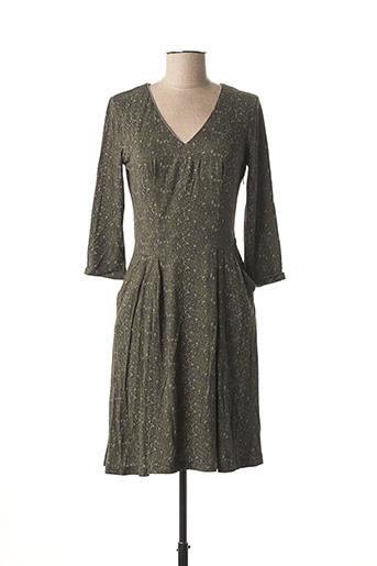 Robe mi-longue vert VOODOO pour femme