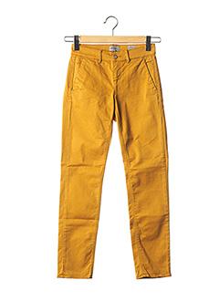 Pantalon casual jaune HAPPY pour femme