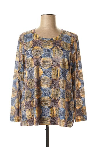T-shirt manches longues jaune DIANE LAURY pour femme