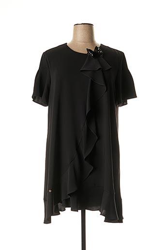 Robe mi-longue noir CRISTINA BARROS pour femme