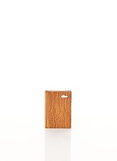 Porte-carte marron BCAT pour femme