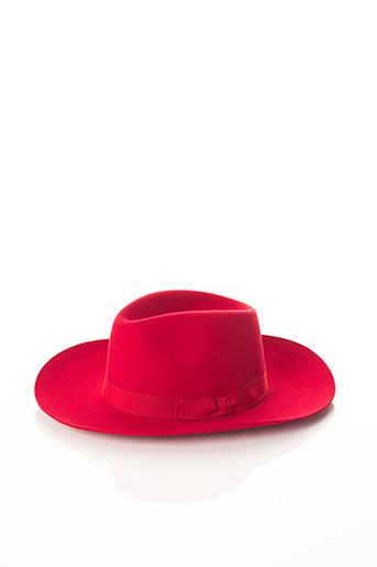 Chapeau rouge BCAT pour femme