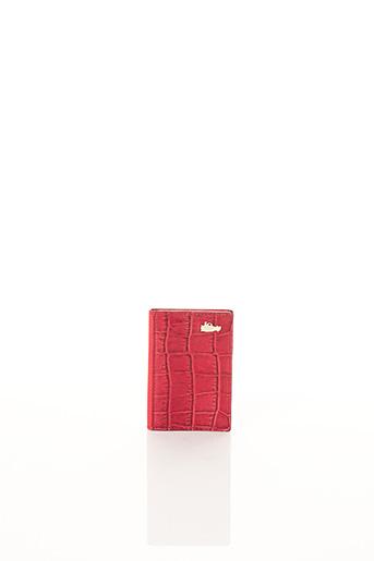 Porte-carte rouge BCAT pour femme