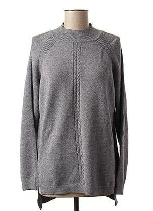 Pull tunique gris PASSIONI pour femme