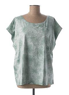 T-shirt manches courtes vert BLEND SHE pour femme