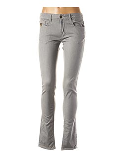 Jeans coupe slim gris APRIL 77 pour femme